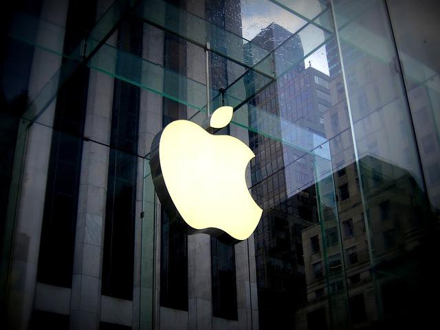 obchod, se znakem Apple