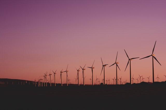 větrné elektrárny, větrná farma